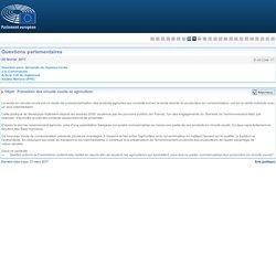 PARLEMENT EUROPEEN - Réponse à question E-001296-17 Promotion des circuits courts en agriculture