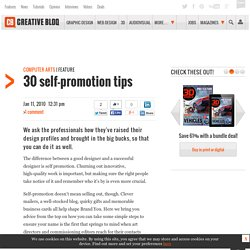 30 self-promotion tips