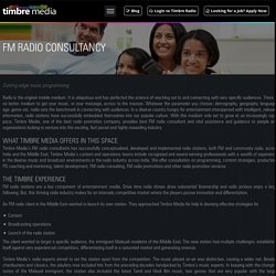 FM Radio Consultant & Promotion Services - Timbre Media