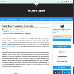 Keys to Event Promotion on Social Media - Digital enCloud
