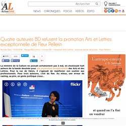 Quatre auteures BD refusent la promotion Arts et Lettres exceptionnelle de Fleur Pellerin