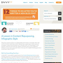Your Blog Post Promotion Checklist - An Infographic from @DivvyHQ