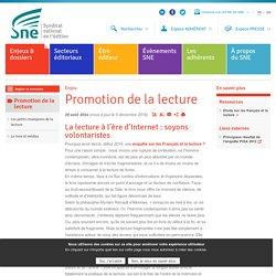 Enjeux de la promotion de la lecture - SNE