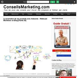 La promotion de ses produits avec Adwords - Walkcast Monétiser un Blog [Partie 30]