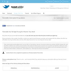 Purchase Tweet Adder, Powerful, Easy Twitter Promotion Tool | Twitter Adder - Professional Twitter Marketing Tools - Automatic Twitter Software - Automate Twitter Posts, Auto Twitter Follow, Automate Unfollow, Mass Tweets, Twitter Search, more ..