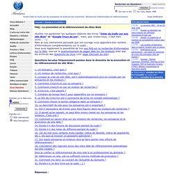 FAQ sur la promotion et le référencement de site Web