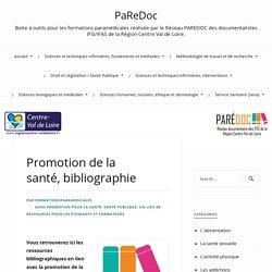 Promotion de la santé, bibliographie Paredoc-