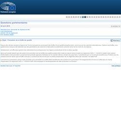 PARLEMENT EUROPEEN - Réponse à question E-003283-16 Promotion de la truffe de qualité
