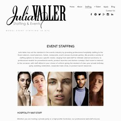 Julia Valler Staffing & Events - Promotional Event Staffing Bartenders NYC