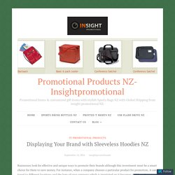 Displaying Your Brand with Sleeveless Hoodies NZ – Promotional Products NZ- Insightpromotional