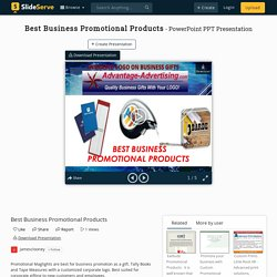 Best Business Promotional Products PowerPoint Presentation, free download - ID:10067157