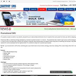 Bulk Promotional SMS Patna - Jhatpat SMS