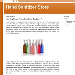 How Helpful Are Promotional Hand Sanitizers ?