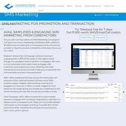 Promotional, Transactional, and OTP SMS Service Provider in India
