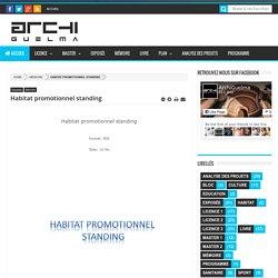 Habitat promotionnel standing - ArchiGuelma
