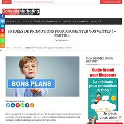 80 idées de promotions pour augmenter vos ventes !