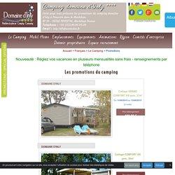 Les promotions du camping Domaine d'inly en Bretagne.