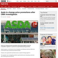Asda to change price promotions after CMA investigation