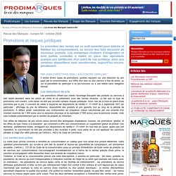 Promotions et risques juridiques - Jean-Christophe Grall et Eléonore Camilleri