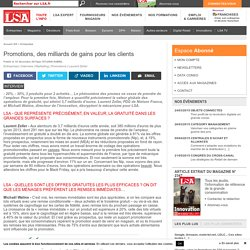 Promotions, des milliards de gains... - LSA