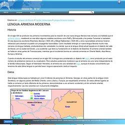 Lengua Armenia moderna