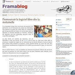 Promouvoir le logiciel libre dès la maternelle