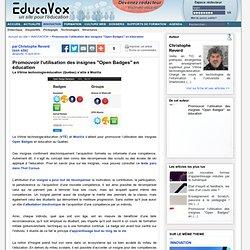 """Promouvoir l'utilisation des insignes """"Open Badges"""" en éducation"""