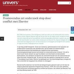 Promovendus zet onderzoek stop door conflict met Elsevier