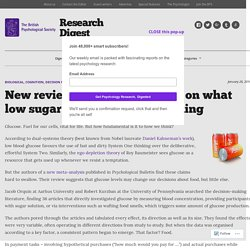 New review prompts a re-think on what low sugar levels do to our thinking – Research Digest