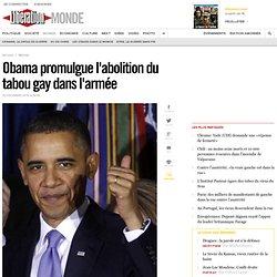 Obama promulgue l'abolition du tabou gay dans l'armée