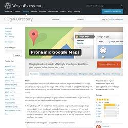 Pronamic Google Maps — WordPress Plugins