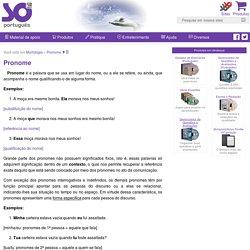 Pronome - Só Português