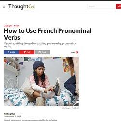 French Pronominal Verbs Require a Reflexive Pronoun