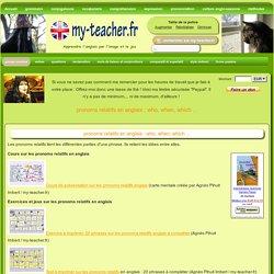 pronoms relatifs en anglais