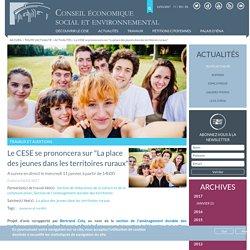 """Le CESE se prononcera sur """"La place des jeunes dans les territoires ruraux"""""""