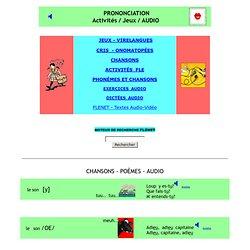 prononciation, jeux, audio, activités, FLE, FLENET
