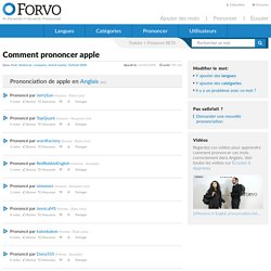 Prononciation de apple : Comment prononcer apple en Anglais
