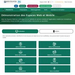 PRONOTE - Démonstration des Espaces Web et Mobile