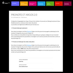 Pronote et Argos 2.0 Site support d'Argos 2.0