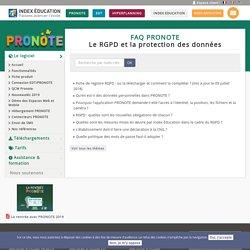 FAQ PRONOTE - Le RGPD et la protection des données