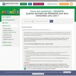 FAQ PRONOTE - Quelles données de PRONOTE vont être remontées vers LSU ?