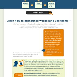 How to pronounce english words