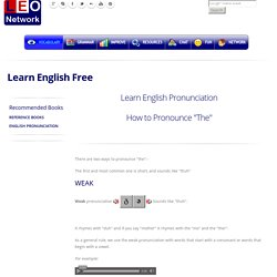 How to pronounce the - English Pronunciation