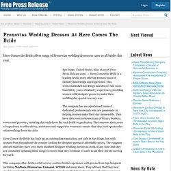 Pronovias Wedding Dresses At Here Comes The Bride