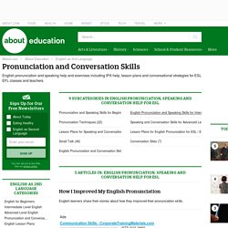 English Pronunciation, Speaking and Conversation Help for ESL