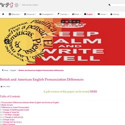 British and American English Pronunciation Differences