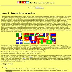FLC: Lesson 1 - Pronunciation guidelines