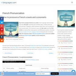 French Pronunciation - How to pronounce French - ielanguages.com