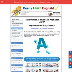 English Pronunciation, Lesson 01: IPA (International Phonetic Alphabet)