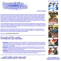 Pronunciation Learning Cards for Teachers and Students of English Language Pronunciation